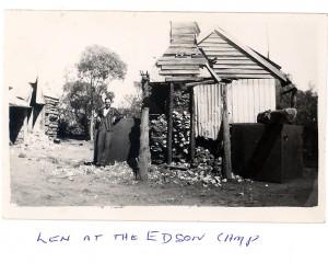 Len at Edson camp