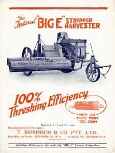 big E harvester